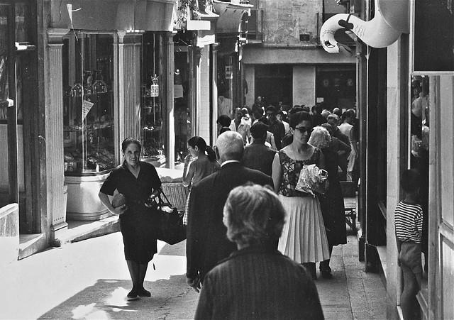 Calle de Martín Gamero en en 1967. Fotografía de John Fyfe