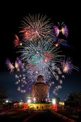 Chinese New Year Fireworks @ Baguashan Great Buddha  (olvwu   ) Tags: night festive worship fireworks taiwan chinesenewyear blessing celebration joyful lunarnewyear firecracker       changhua greatbuddha jungpangwu oliverwu oliverjpwu flickrexplore   olvwu baguashan changhuacounty  changhuacity jungpang  baguashangreatbuddha baguashanscenicdistrict changhuagreatbuddhastatueofbaguashan