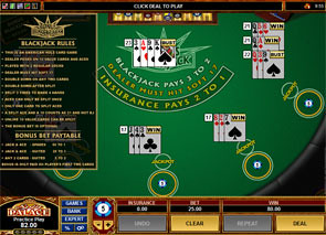 Multi-Hand Bonus Blackjack Rules