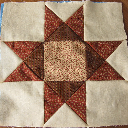First Hand-Pieced Square Finished