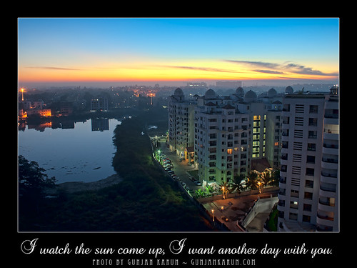 14 Days to Valentine: Day 4 - I watch the sun come up... I want another day with you
