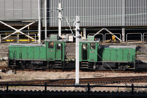 MTR diesel loco L36 and L37 shunting at Kowloon Bay depot