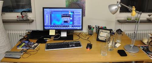 Bild på mitt skrivbord.