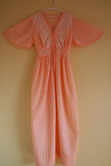Vintage Bohemian Peach Dress (honor) Tags: vintage dress lace peach hippie boho bohemian etsyveg