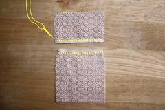 Step 2: Hem a Short Edge on Each Lace Piece
