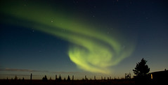 Northern Lights over Hudson's bay,Manitoba