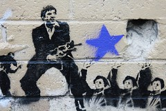 my little friend (the euskadi 11) Tags: street art wall stencil australia melbourne richmond scarface
