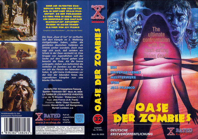 Oasis Of The Zombies (VHS Box Art)