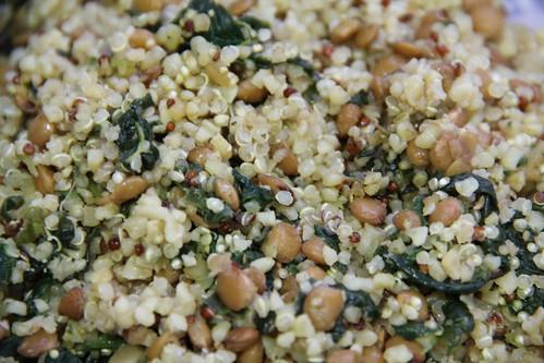 Quinoa, Lentils, Spinach