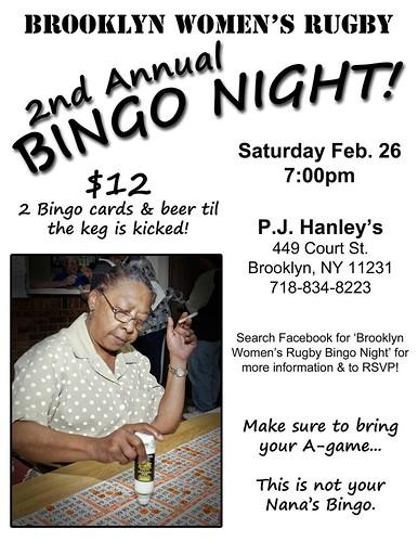 BWR 2011 Bingo Flyer