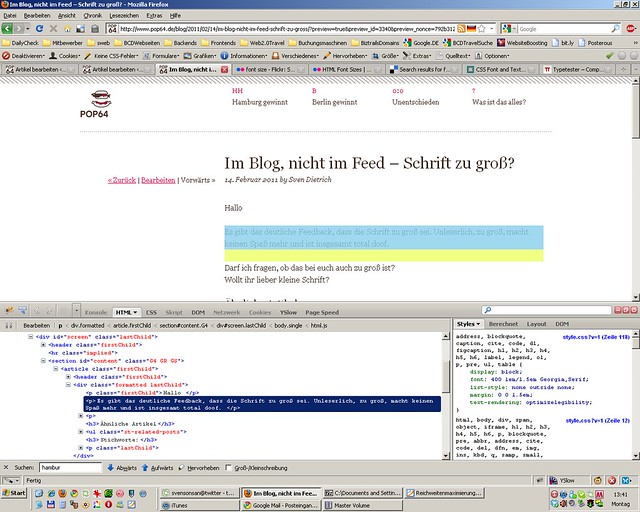 screenshot schriftgroesse