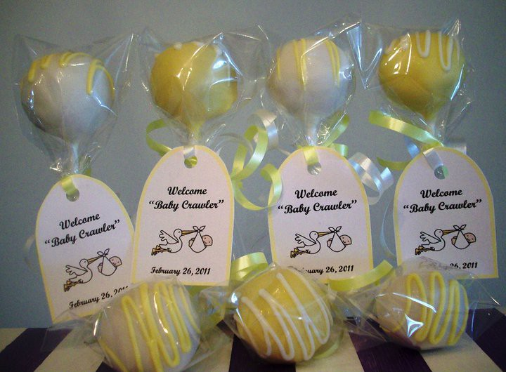 Baby Shower Cake Pop Favors