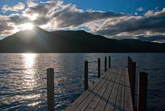 Lake Rotoroa im Sonnenutergang