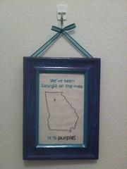 We've seen Georgia on the map. It's purple!