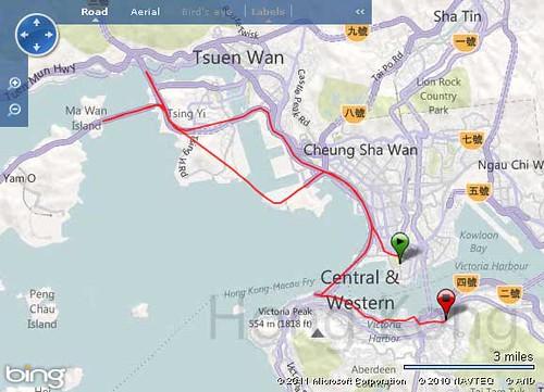 HongKong marathon コース図