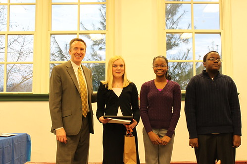 Middle School Black History Month Essay Winners with Mayer Kruzan