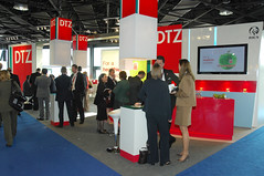 MIPIM 2010 - STAND OF DTZ (GERMANY) (MIPIM_World) Tags: real estate property event professionals 2010 broker exhibtion mipim dtz