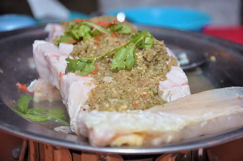 Steamed Chinese Carp with minced ginger