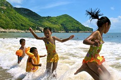 Summer Splashing (eric_hevesy) Tags: china summer playing beach kids zhejiang songmen rememberthatmomentlevel4 rememberthatmomentlevel1 rememberthatmomentlevel2 rememberthatmomentlevel3