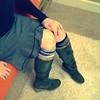 56 | 365 (elle.hanley) Tags: portrait woman socks self boots skirt 365 selfie porject365 vivadeva
