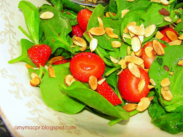strawberry and almond salad