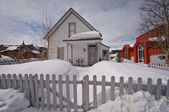 No End in Sight (Bruce Bordelon) Tags: winter house snow fence town nikon colorado angle wide nikkor breckenridge f28 pickett d700 1424mm