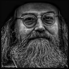 LOOK AT ME / PORTRAIT OF AN OLD MAN (Mindstormphotos) Tags: old portrait england people bw man geotagged photography glasses flickr map soho streetphotography explore round lookatme greybeard nikond200 explored portraitofanoldman sbfmasterpiece