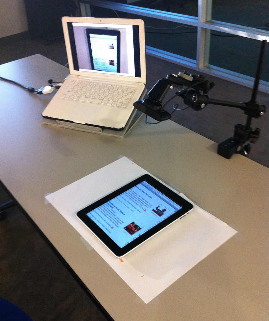 iPad recording setup