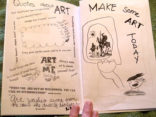 S's Mad Artist Party Zine pages 7-8