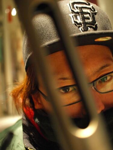 Crow, Bikepolo player in Tokyo (THBP/Raijing) with his YABUSAME.