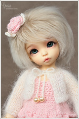 Knopa  (Maram Banu) Tags: pink white flower doll dress handmade bjd fairyland ante bolero fairystyle marambanu