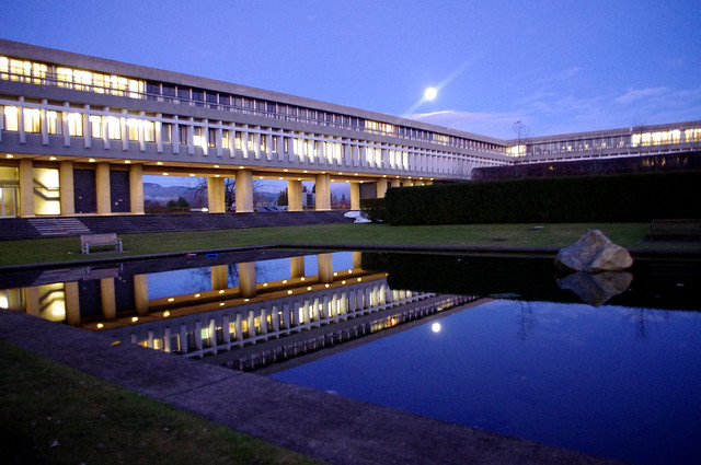 Full Moon at Simon Fraser University
