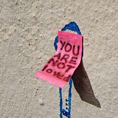 YOU ARE NOT loved (Leo Reynolds) Tags: canon graffiti iso100 is postit powershot note 5mm f40 hpexif 0001sec leol30random sx10 graffitinorwich xleol30x xxx2011xxx