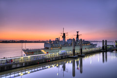 HMS Campbeltown (Jeffpmcdonald) Tags: uk liverpool royalnavy rivermersey nikond80 hmscampbeltown cruiselinerterminal jeffpmcdonald mar2011