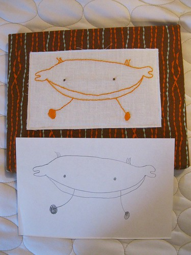 art to embroidery: crab