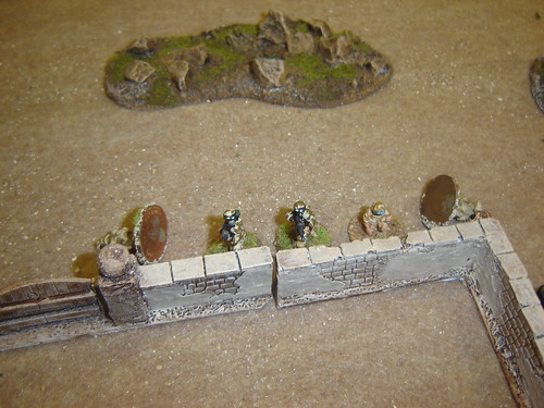 British firing line takes casualties