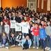 Catania, l'Istituto San Francesco di Sales fa festa con lo sprinter Scuderi