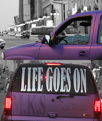 LIFE GOES ON  =P (Buthaina) Tags: life car purple bokeh goes gmc on