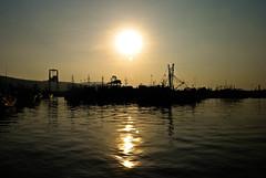Port. (puzzlescript) Tags: sunset sun port nikon vizag d3000