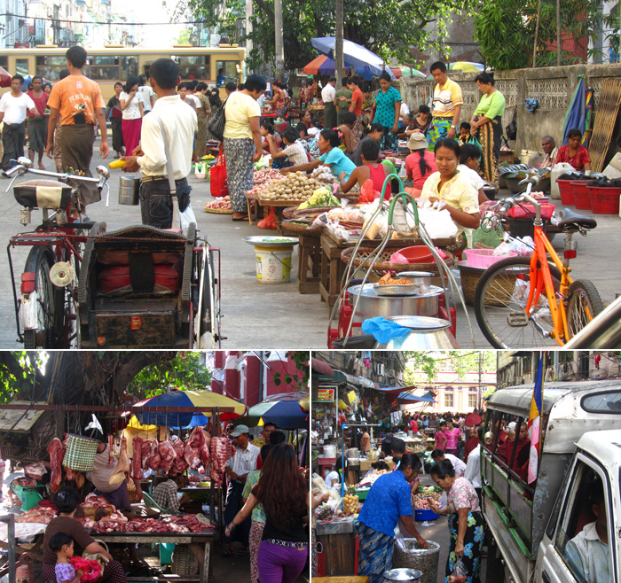 Sidewalk Market, Yangon, Myanmar