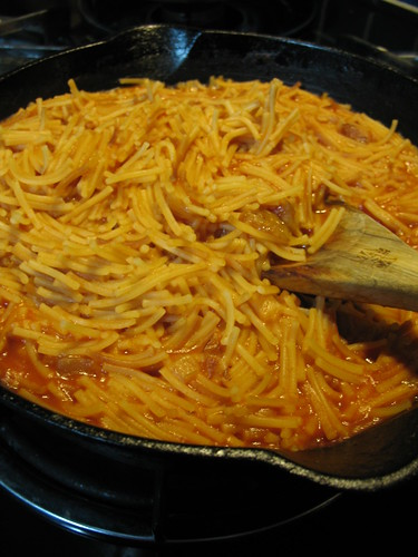 homemade fideo