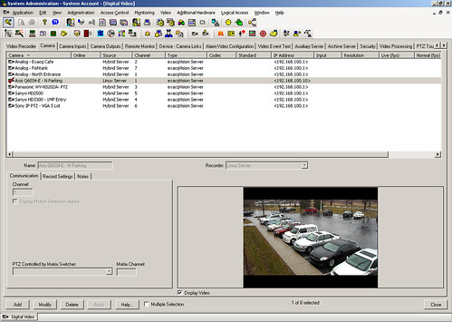 Lenel Onguard integration with exacqVision - System Setup screen