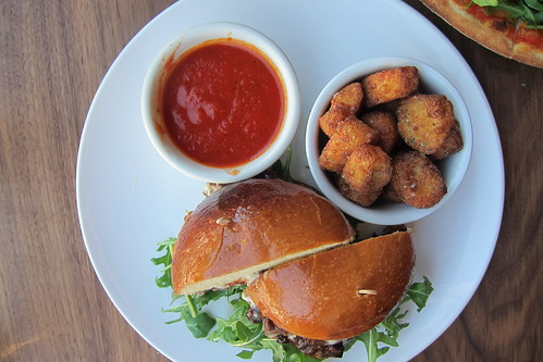 Osteria La Buca: Burger + Fried Gnocchi