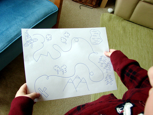 5:00 - he wanted me to draw him a treasure map
