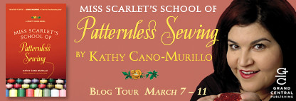 A podcast interview with Kathy Cano Murillo about her new novel, Miss Scarlet's School of Patternless Sewing!