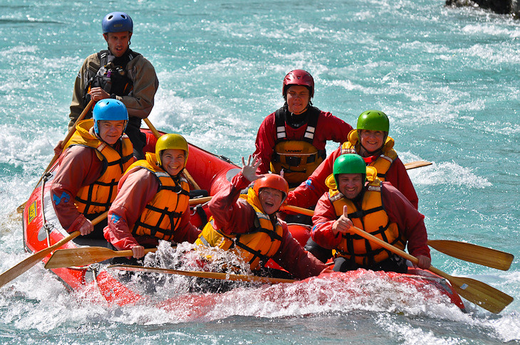 river rafting the rangitata river in New Zealand
