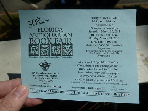 Florida Antiquarian Book Fair Coupon