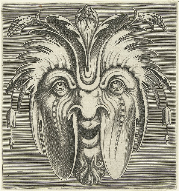 organic abstract mask engraving