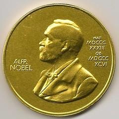 Nobel Prize medal in chocolate
