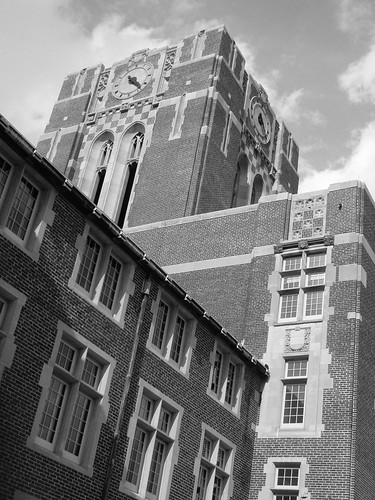 ayres hall, black and white